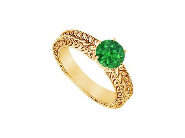 Emerald Ring  14K Yellow Gold - 0.50 CT TGW