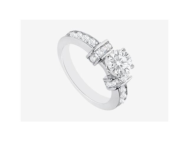 Semi Mount Engagement Ring in 14K White Gold with 1.10 CT Diamonds Center Diamond Not Included