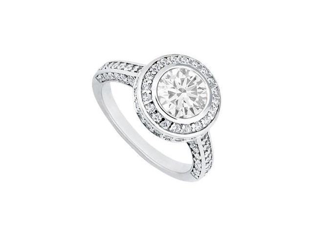 Diamond Engagement Ring  Platinum - 1.50 CT TGW