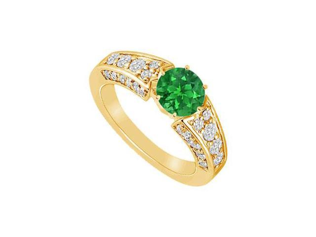 Emerald and Diamond Ring  14K Yellow Gold - 2.00 CT TGW