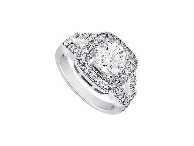 Diamond Engagement Ring  Platinum - 1.25 CT Diamonds