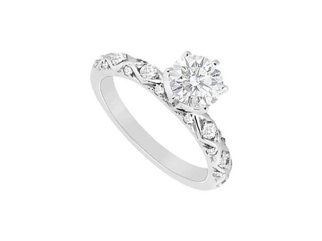 Diamond Engagement Ring  14K White Gold - 0.65 CT Diamonds