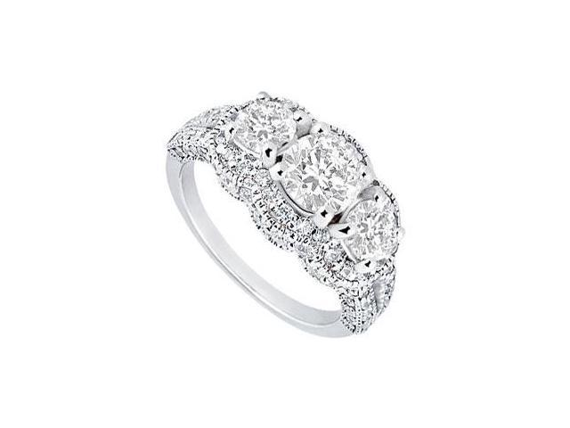 Diamond Engagement Ring  Platinum - 1.75 CT Diamonds