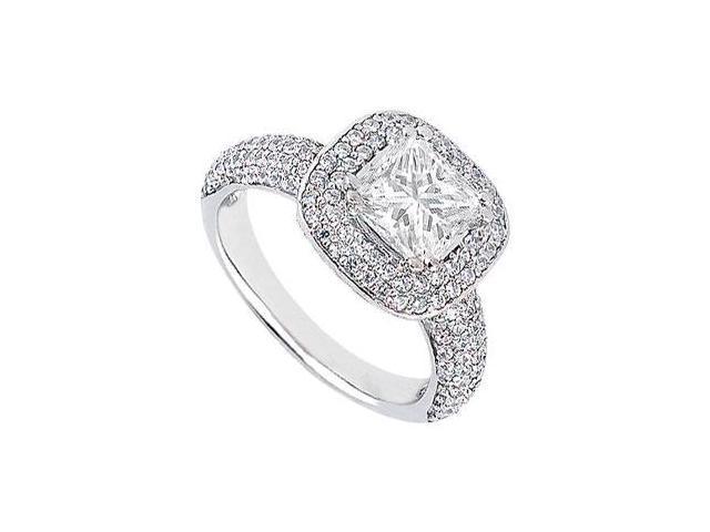 Diamond Engagement Ring  Platinum - 1.50 CT Diamonds