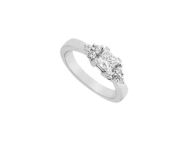 Diamond Engagement Ring  18K White Gold - 0.66 CT Diamonds