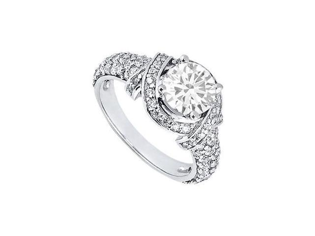Diamond Engagement Ring  Platinum  1.25 CT Diamonds