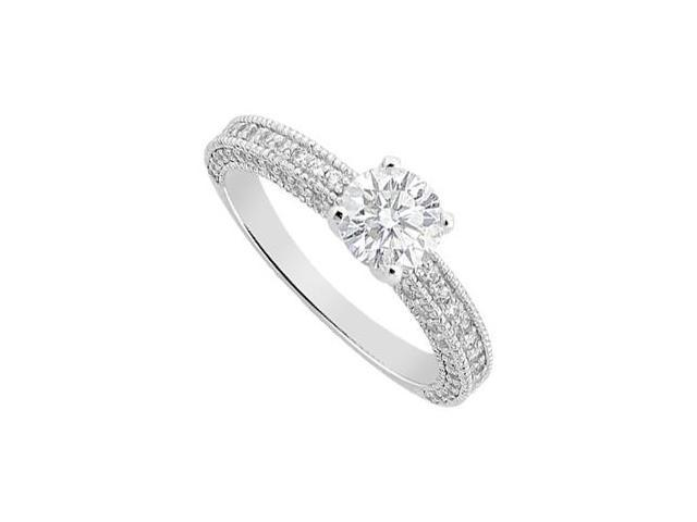 14K white Gold Diamond Engagement Ring 1.25 Carat Diamonds