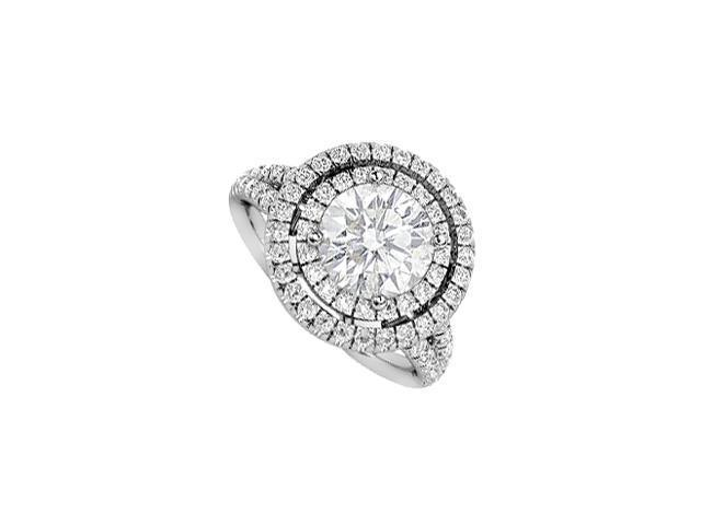 2 Carat Diamond Engagement Ring in 14K White Gold Setting