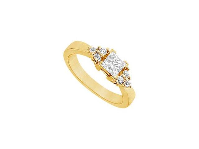 Diamond Engagement Ring  14K Yellow Gold - 0.66 CT Diamonds