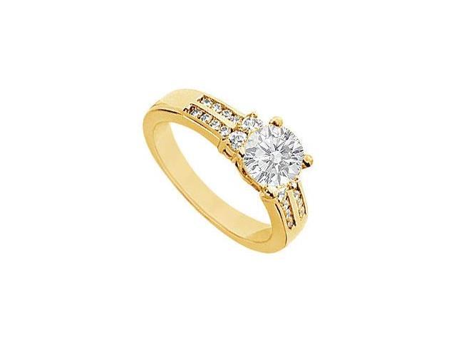 Diamond Engagement Ring  14K Yellow Gold - 0.75 CT Diamonds