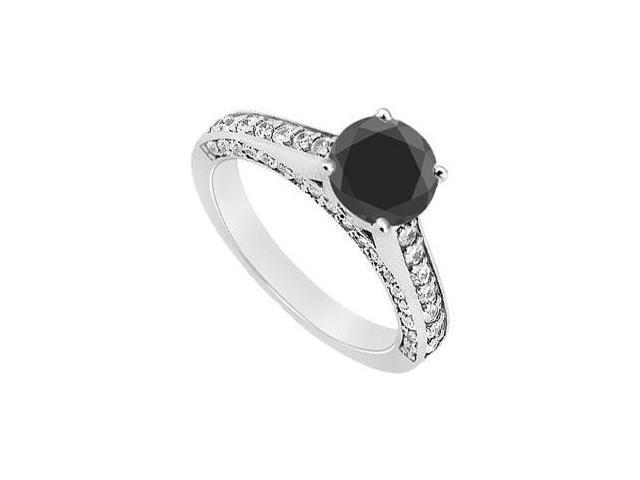 Fancy Black Diamond Ring  14K White Gold - 1.75 CT Diamonds