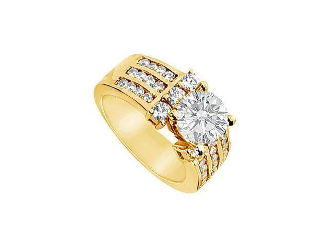 Diamond Engagement Ring  14K Yellow Gold - 2.00 CT Diamonds