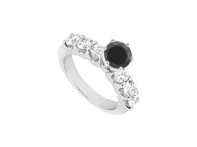 Fancy Black Diamond Ring  14K White Gold - 1.90 CT Diamonds