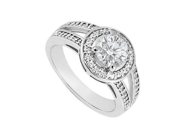 Diamond Engagement Ring  14K White Gold 1.00 CT Diamonds