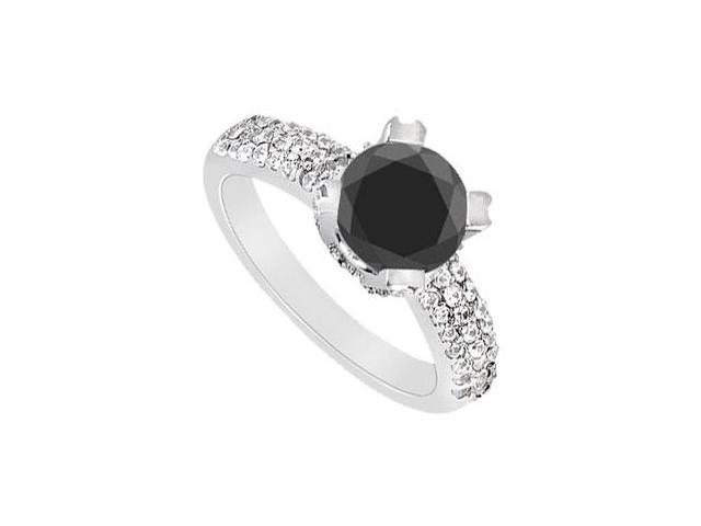 Fancy Black Diamond Ring  14K White Gold - 1.75 CT Diamonds