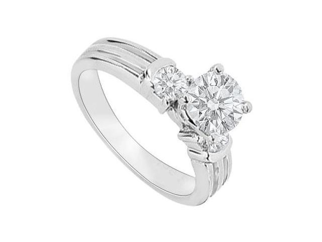 14K White Gold  Diamond Engagement Ring 0.75 CT TDW