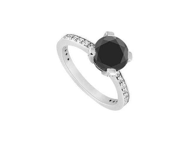 Fancy Black Diamond Ring  14K White Gold - 1.50 CT Diamonds