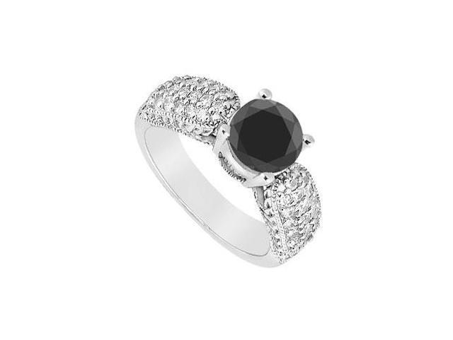 Fancy Black Diamond Ring  14K White Gold - 1.50 CT Diamonds