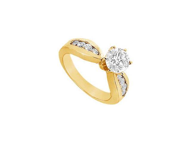 Diamond Engagement Ring  14K Yellow Gold - 1.00 CT Diamonds