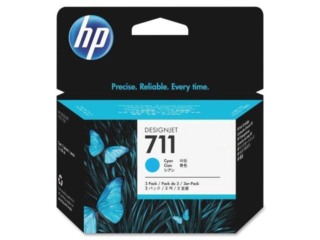 HP 711 (CZ134A) 3-pack Cyan Original Ink Cartridges