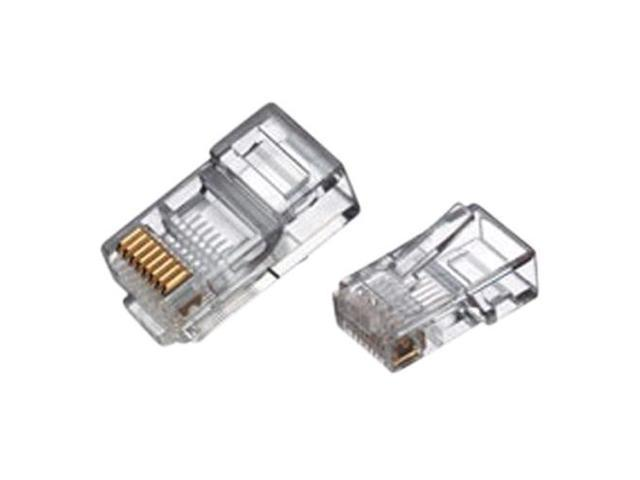 rj45 8 conductor crimp end connector for cat5 ethernet cable