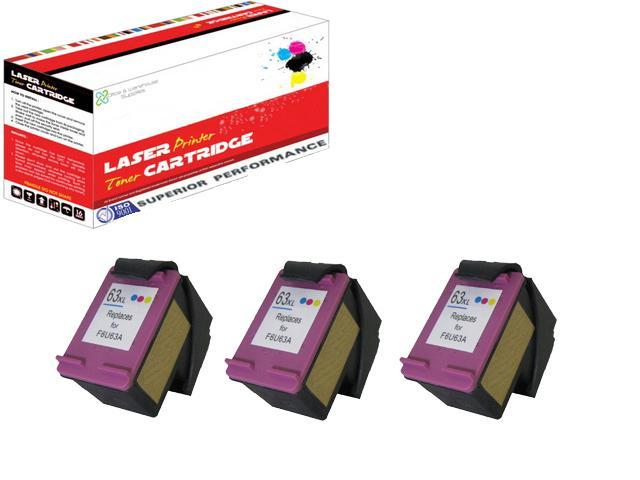 OWS® 3PK Compatible Ink Cartridge for F6U63AN (HP 63XL) Compatible Ink For HP Inkjet HP DeskJet 1110 1112 2130 2132 3630 3631 3632 3633 3634 3636 All-in-One HP OfficeJet 3830 4650 4652 4654 4655