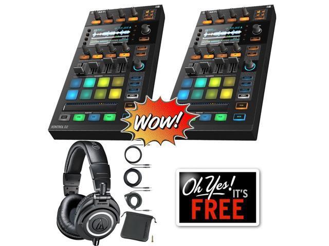 (2) Native Instruments Traktor Kontrol D2 DJ Controller + Free Audio Technica ATH-M50x Bundle (ProSoundGear)