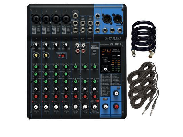 Yamaha mg10xu 10 input stereo mixer w 4 xlr cables and 4 for Yamaha mg10xu usb cable