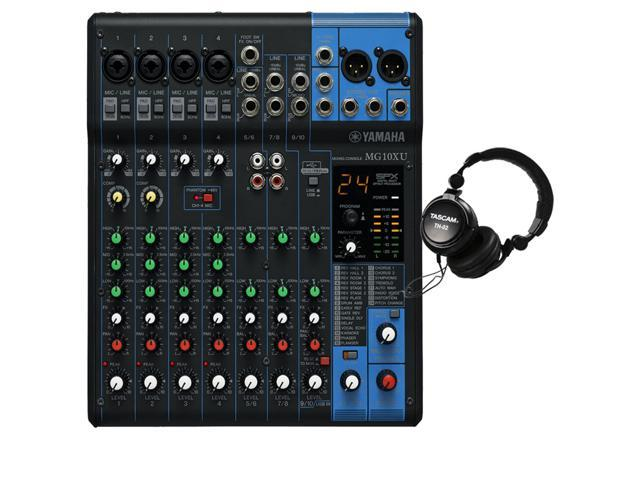 Yamaha mg10xu 10 input stereo mixer w free tascam th02 for Yamaha mg10xu review