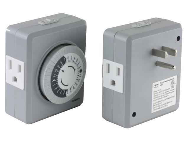 Instapark TU19 24-Hour 15 Amp Heavy-duty Plug-in Mechanical Timer ...
