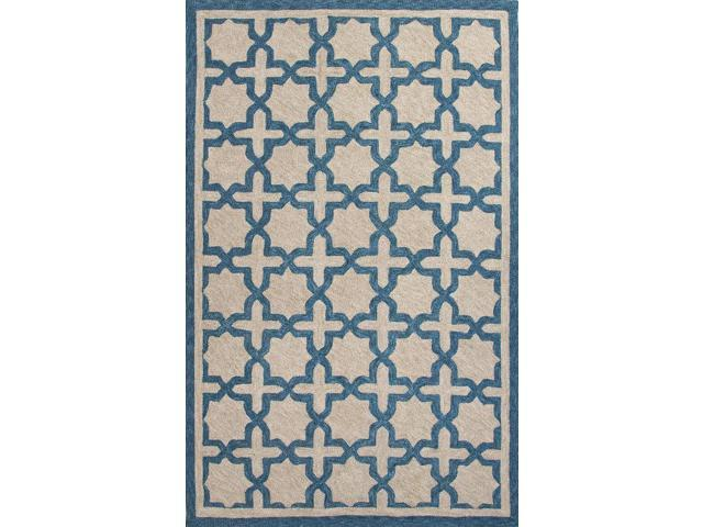 Jaipur CAT04 Moroccan Polyester Blue Taupe Indoor Outdoor
