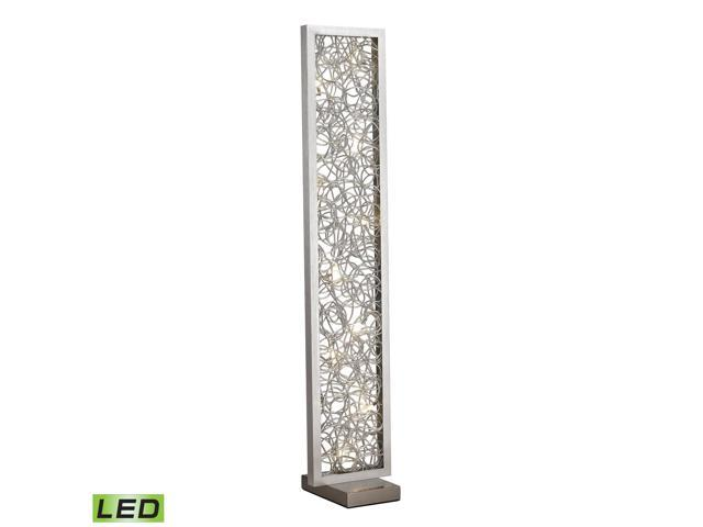 Dimond Basinger Abstract Metalwork LED Floor Lamp in Silver Finish  D2719