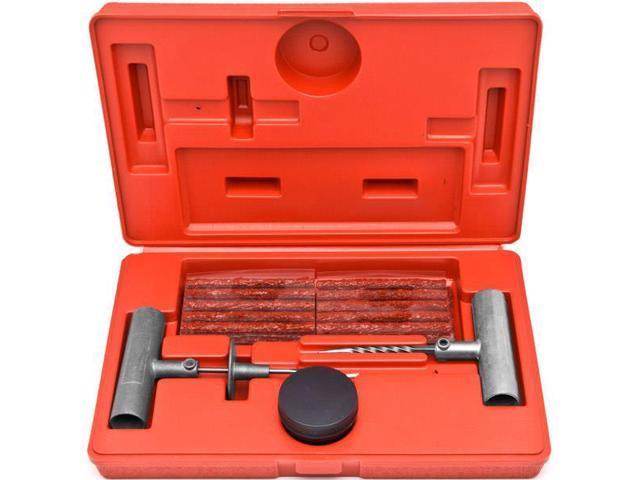 Biltek® 36 Pc Tire Repair Tool Kit Case Plug Patching Tubeless Tires Insert Spiral Hex