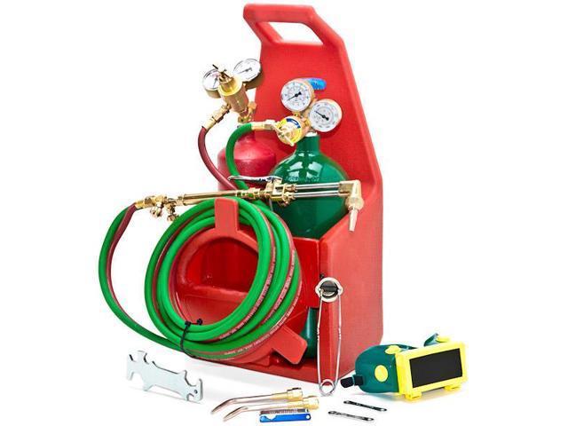 Biltek® Professional Portable Torch Kit Oxygen Acetylene Oxy Welding Cutting Victor-Style Tank