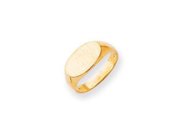 14k Yellow Gold Engravable Signet Ring (7.6mm x 13.3mm face)