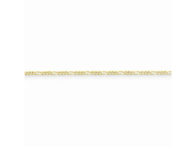 10k Yellow Gold 30in 2.2mm Figaro LINK Necklace Chain