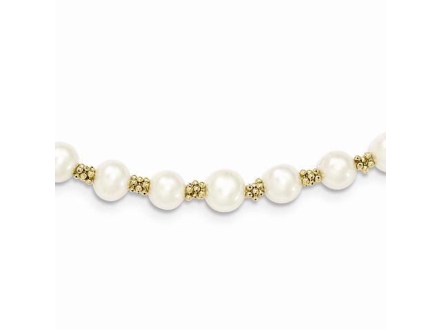 14k Yellow Gold 7in Freshwater Cultured Pearl Bracelet