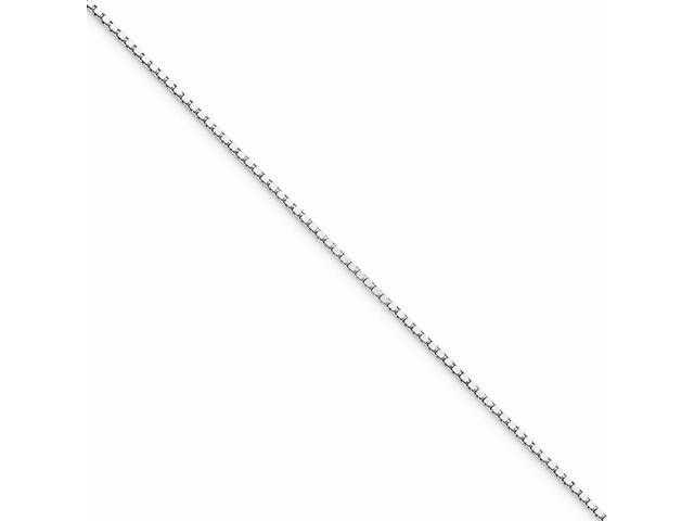 10k White Gold 9in .90mm Box Chain Bracelet