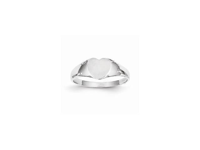 14k White Gold Engravable Signet Ring (6.7mm x 6.7mm face)