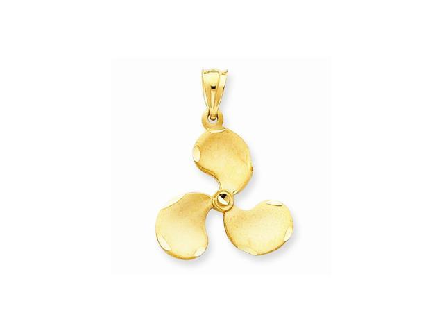 14k Yellow Gold Propeller Pendant