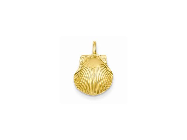 14k Yellow Gold Seashell Pendant
