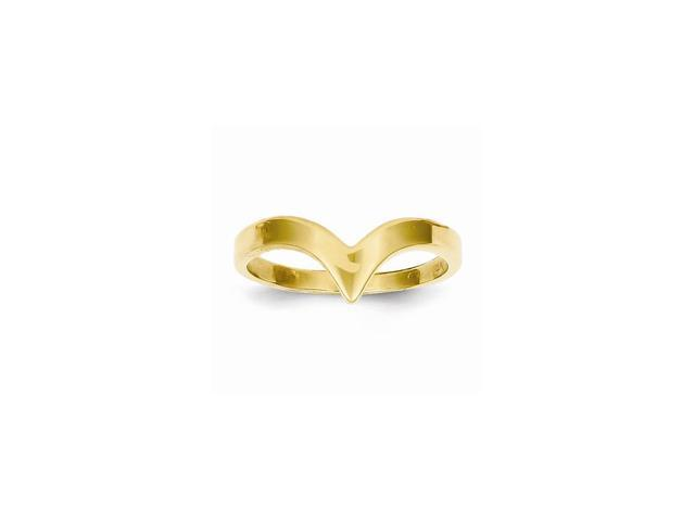 14k Yellow Gold Polished Fancy Ring