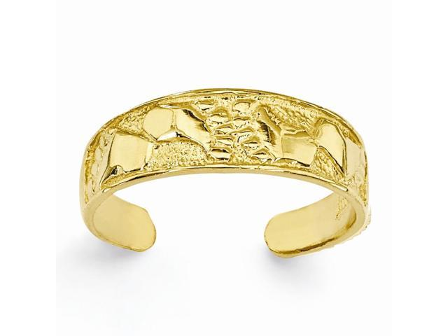 14k yellow gold footprints toe ring newegg