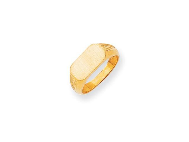 14k Yellow Gold Engravable Signet Ring (6.7mm x 12.1mm face)