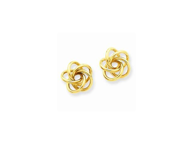 14k Yellow Gold Love Knot Post Earrings (0.4IN x 0.4IN )