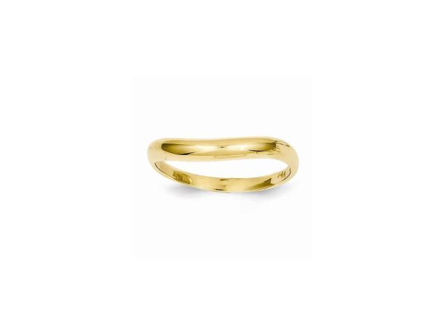 14k Yellow Gold Polished Stackable Wave Ring