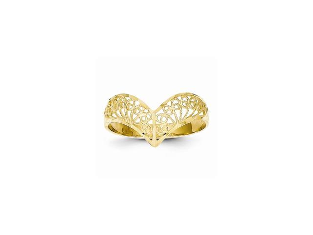 14k Yellow Gold D/C Filigree Ring