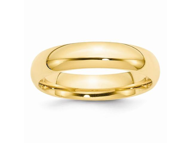 14k Yellow Gold Engravable 5mm Comfort-Fit Band