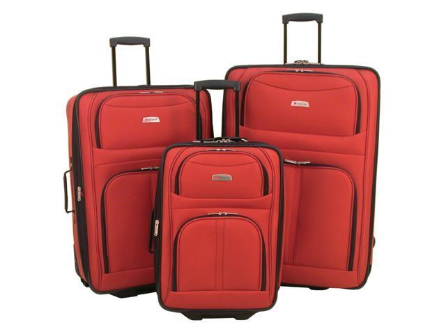 Delsey Helium Destiny Luggage 3 Piece Set - Orange Color