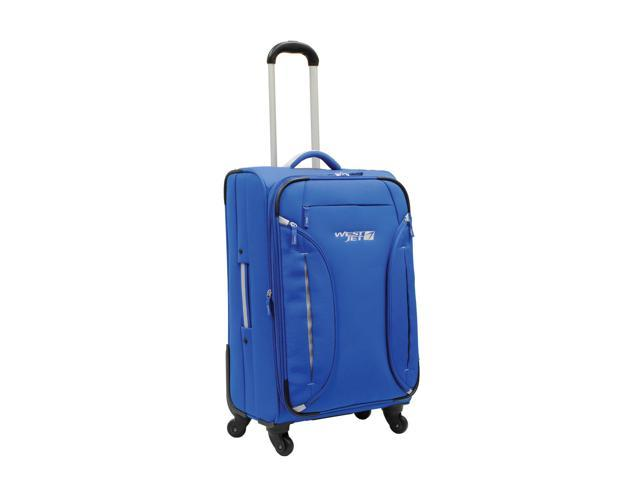WestJet Feather Lite Spinner Luggage 24 inches 4-Wheel Exp. Upright Trolley - Blue Color
